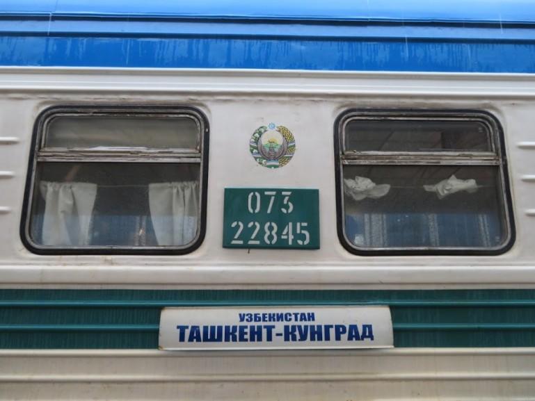 The Soviet sleeper train in Uzbekistan from Tashkent to Nukus