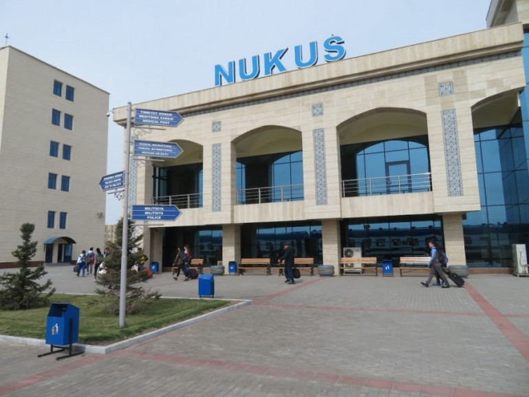 Train station in Nukus Uzbekistan