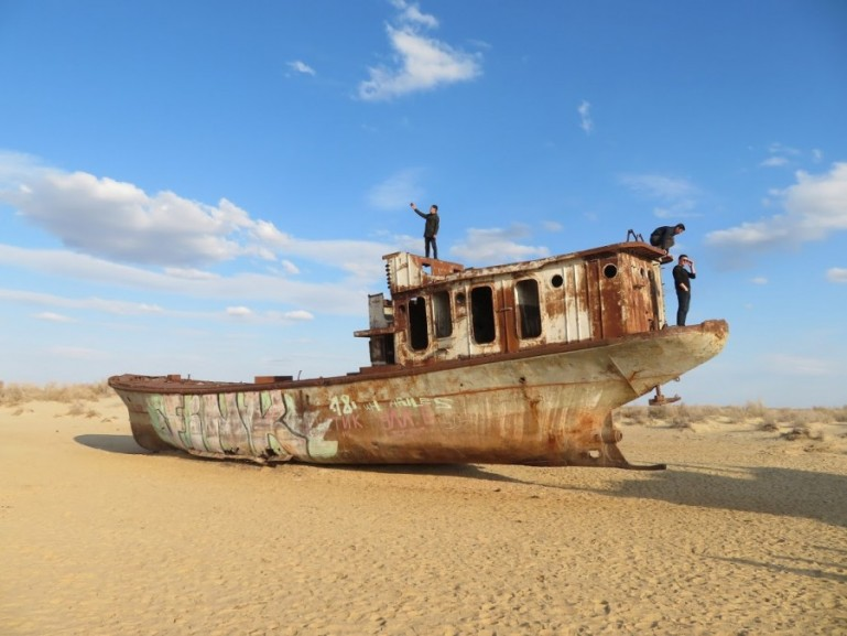 Ship graveyard in Moynaq Uzbekistan