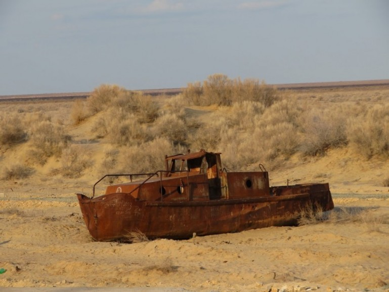 Ship cemetery in Moynaq