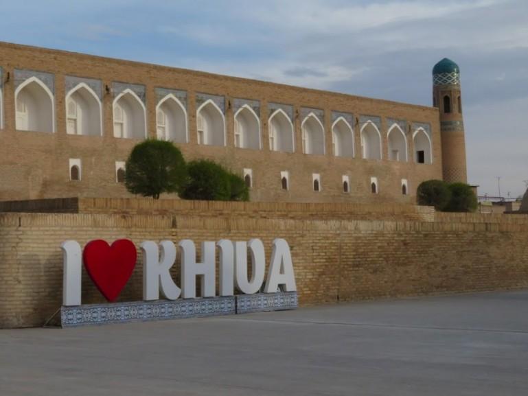 I love Khiva sign in Uzbekistan
