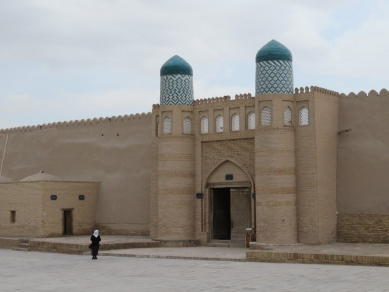 Uzbek women in the old town of Khiva Uzbekistan
