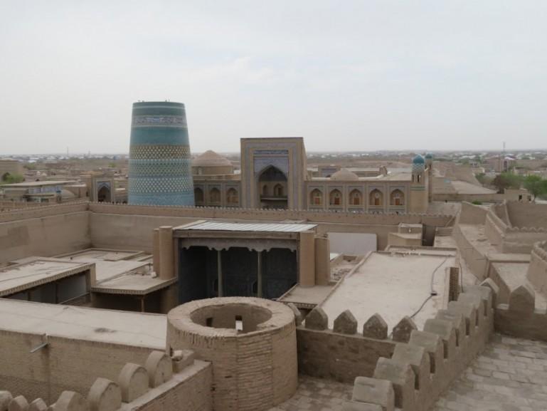 Kalta minor minaret in Khiva Uzbekistan
