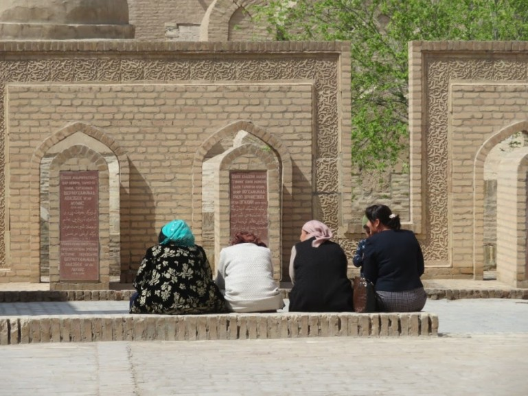 Uzbek women in the old town of Khiva Uzbekistan