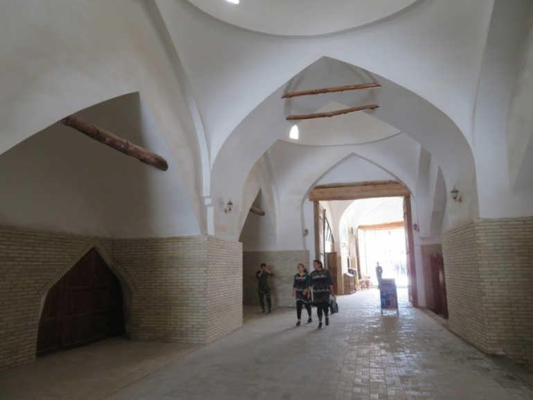 The caravan serai at the eastern gate that used to be the slave market in Khiva Uzbekistan