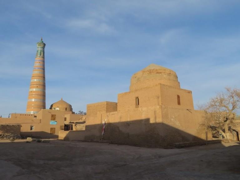 The Islam Hoja minaret of Khiva Uzbekistan