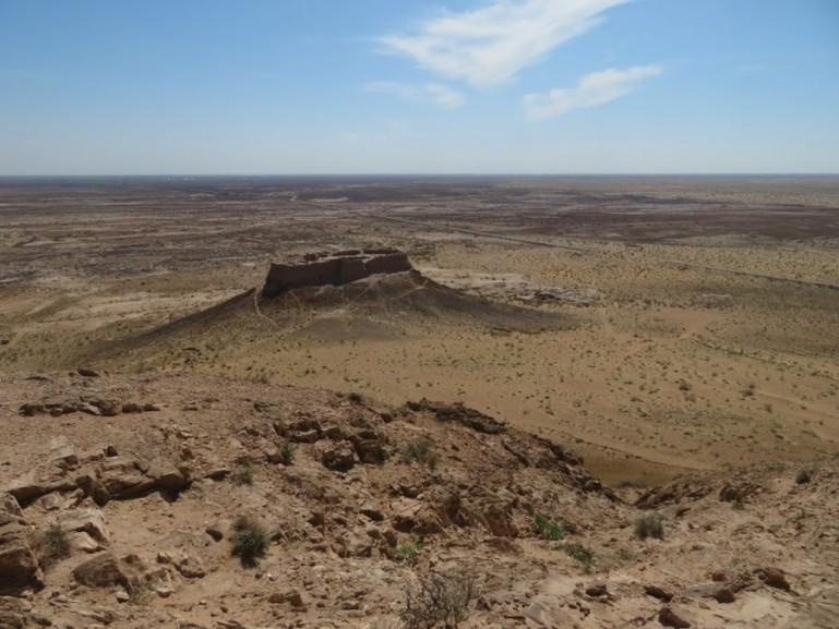 Ayaz Kala is the oldest desert castle of the Khorezm fortresses