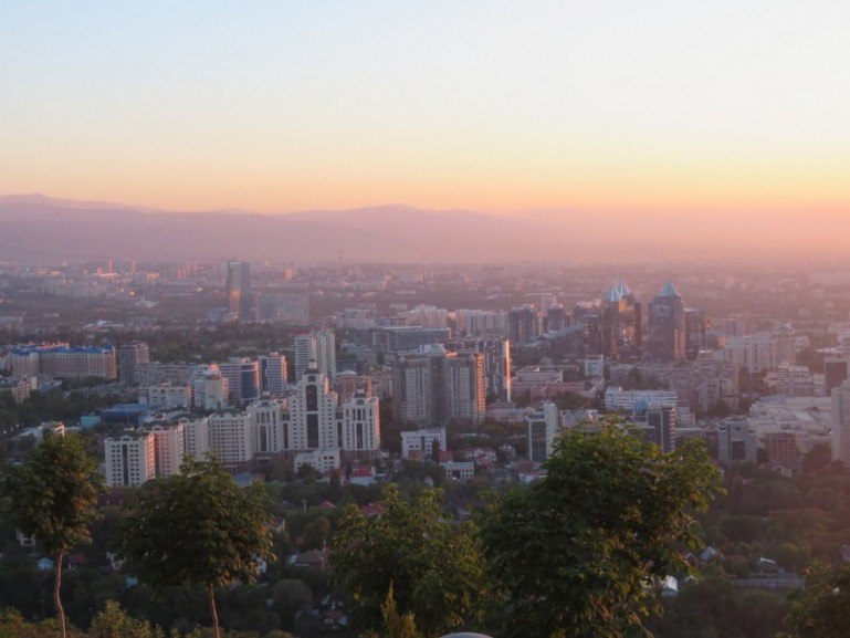 View from Kok Tobe in Almaty