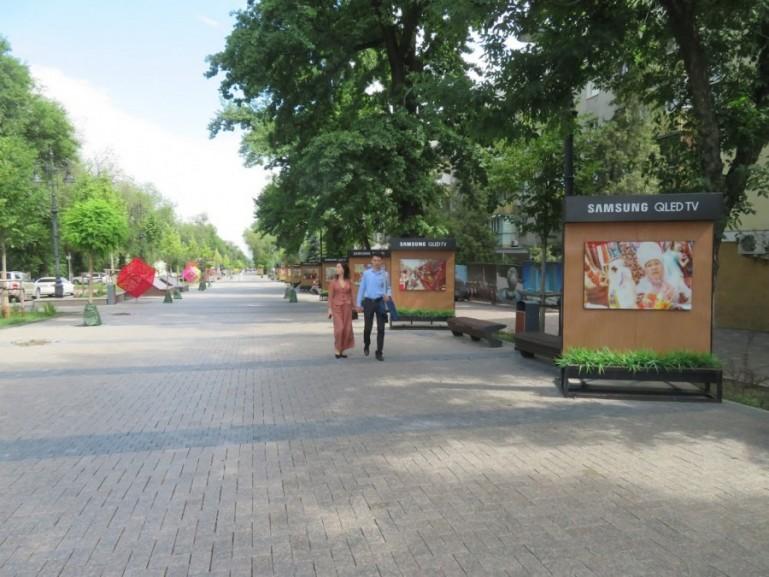 the new Panfilov street promenade in Almaty