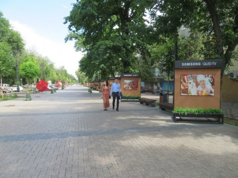 the new Panfilov street promenade in Almaty