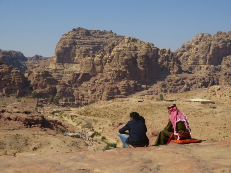 Petra is one of the highlights of backpacking Jordan