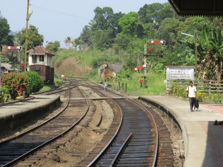 Station from the Kandy to Ella Train