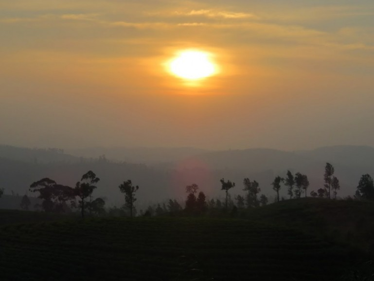 Sunset from the Kandy to Ella train