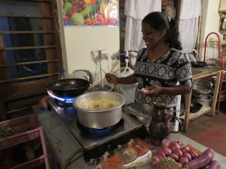 Nirmali's cooking class in Ella
