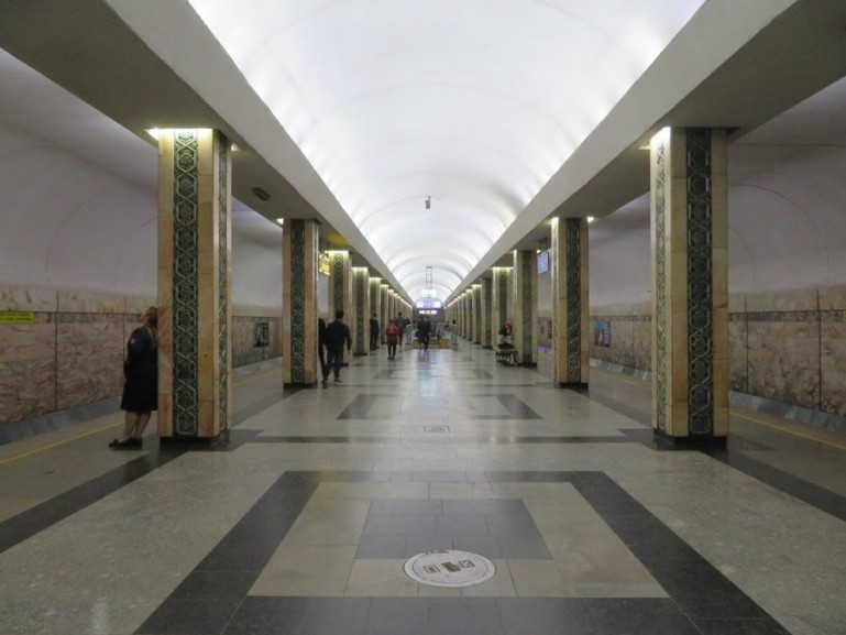 Oybek metro station in Tashkent Uzbekistan