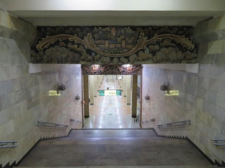 Entrance to the Tashkent metro stations