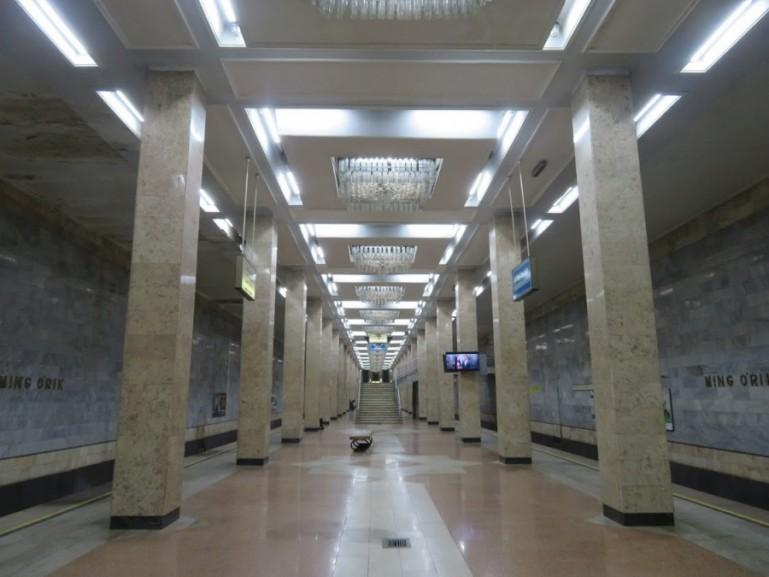 Ming Orik metro station in Tashkent Uzbekistan
