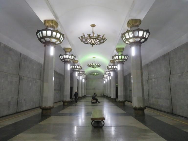 Yunus Rajabiy metro station in Tashkent Uzbekistan