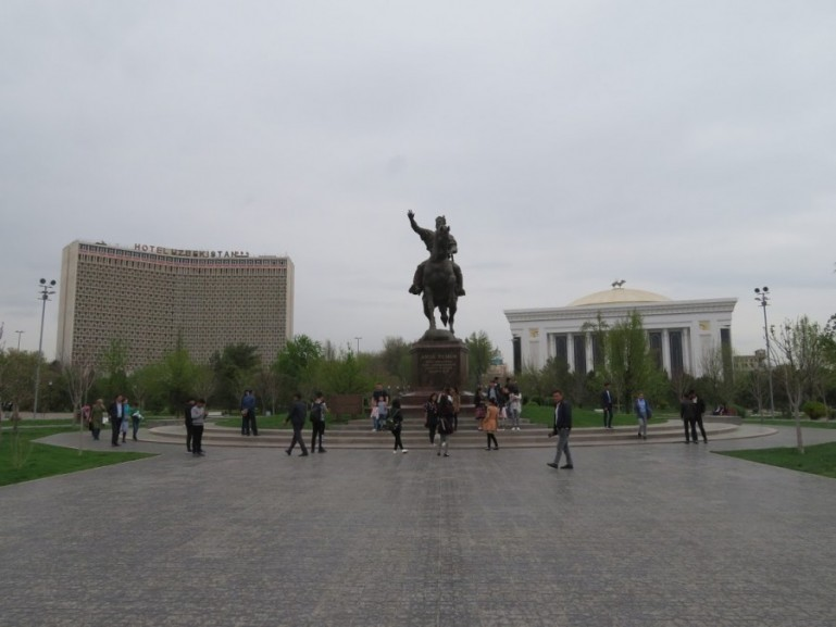 Amir Timur Square in Tashkent Uzbekistan. One of the best places to visit in Tashkent