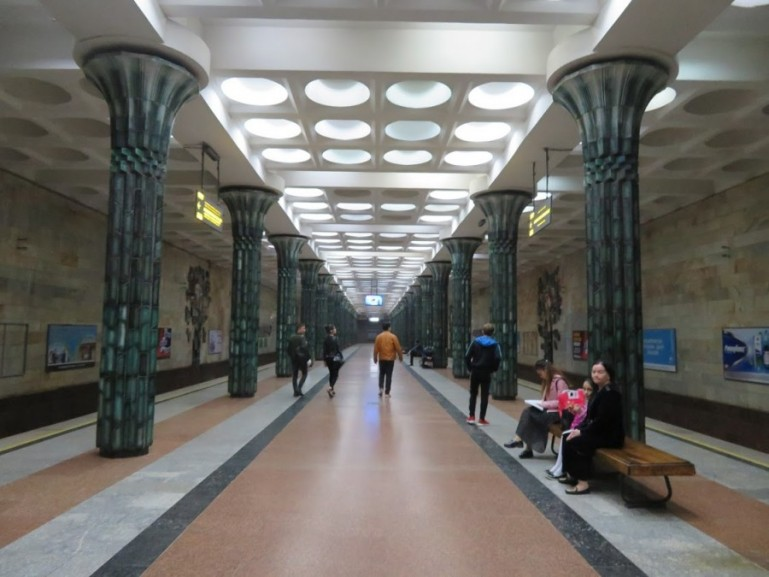 Gafur Gulom metro station in Tashkent Uzbekistan