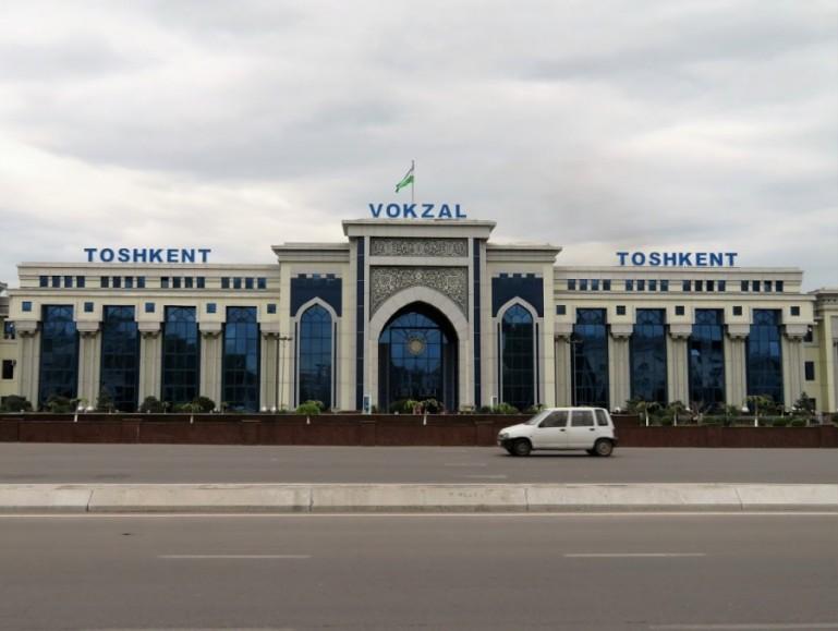 Central train station in Tashkent Uzbekistan