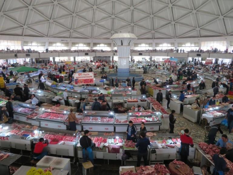 Chorsu bazaar in Tashkent Uzbekistan