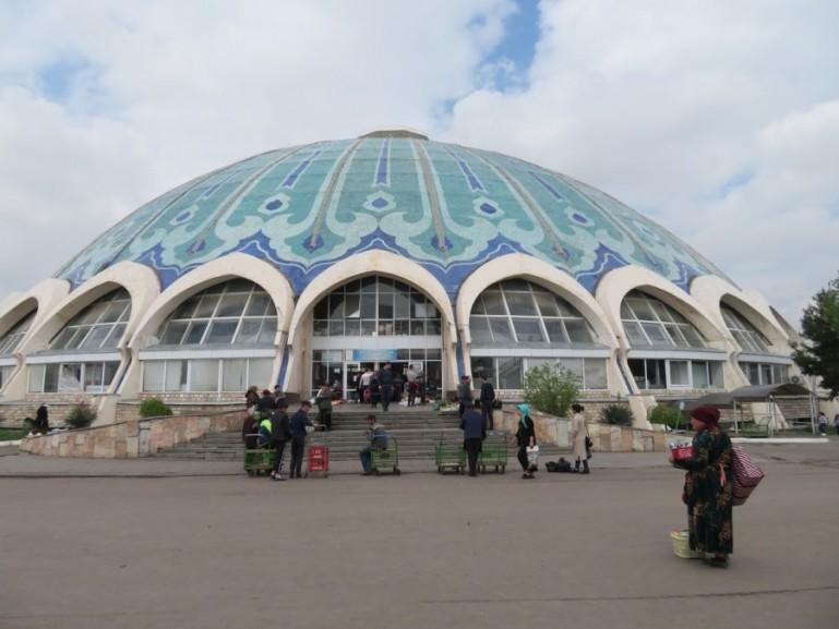 Chorsu bazaar in Tashkent Uzbekistan. One of the best places to visit in Tashkent