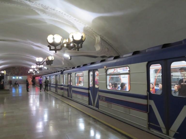 Ozbekiston metro station in Tashkent Uzbekistan