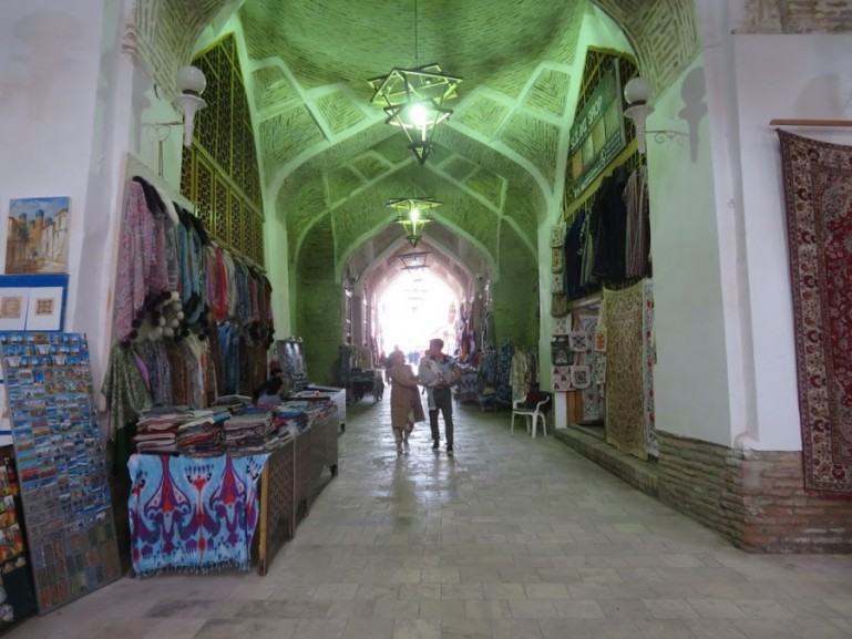 Covered bazaars in Bukhara Uzbekistan