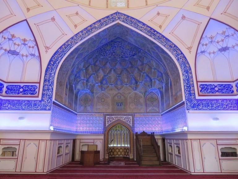Bolo Hauz mosque in Bukhara Uzbekistan