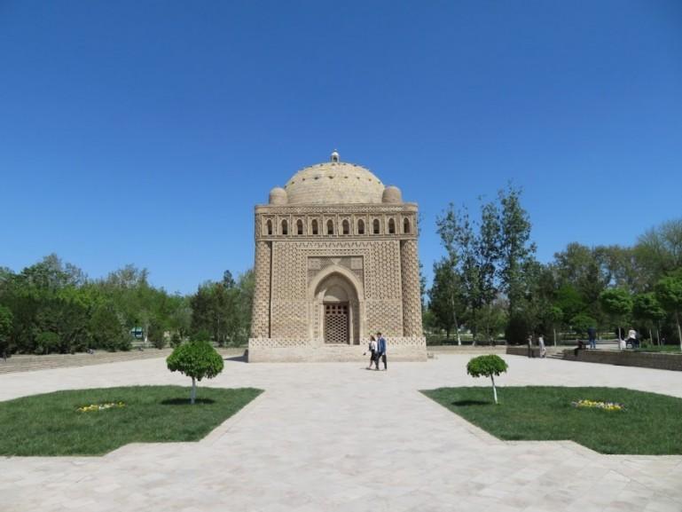 Samonids park in Bukhara Uzbekistan