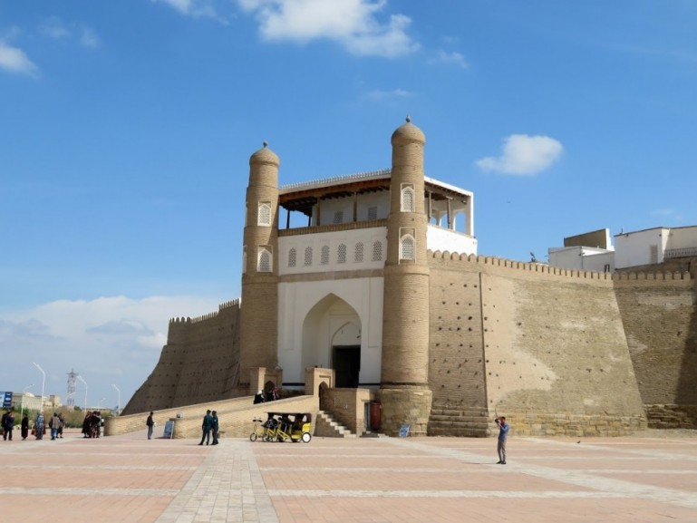 The arc of Bukhara Uzbekistan. Bukhara is among the best places to visit in Uzbekistan