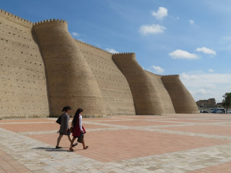 City walls of Bukhara Uzbekistan