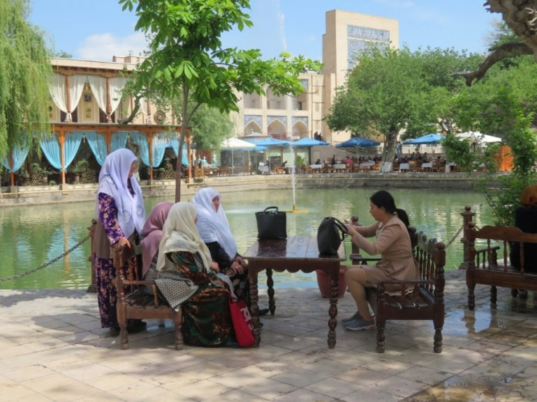 Lyab i Hauz in Bukhara Uzbekistan