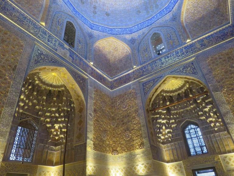Gur-e Amir mausoleum in Samarkand Uzbekistan