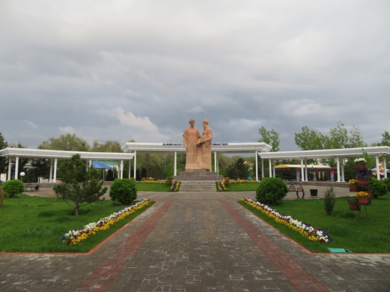 Central Park in Samarkand Uzbekistan