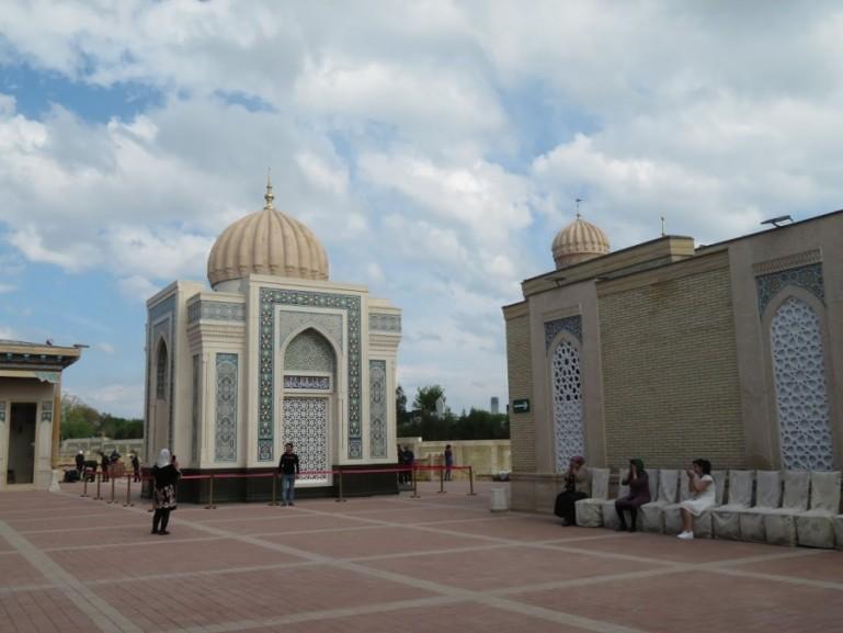 Mausoleum of the first president in Samarkand Uzbekistan