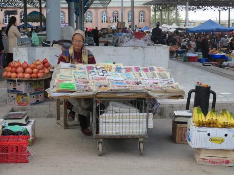 Siob bazaar in Samarkand Uzbekistan