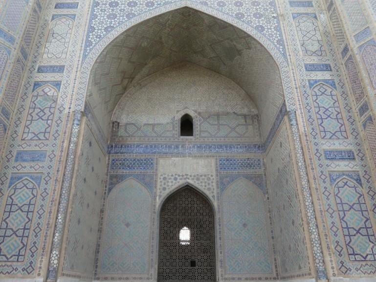 Bibi Khanum mosque in Samarkand Uzbekistan
