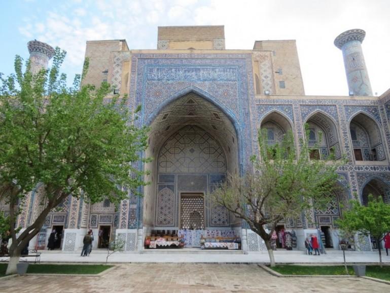 Bibi Khanum mosque in Samarkand Uzbekistan. Samarkand is among the best places to visit in Uzbekistan