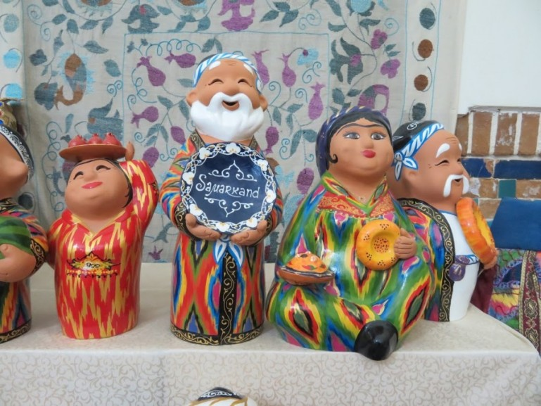 Souvenirs for sale in Samarkand. Shopping is just one of the things to do in Samarkand