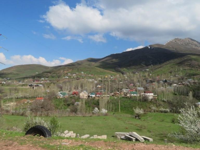 Chimgan town in the Chimgan Mountains Uzbekistan