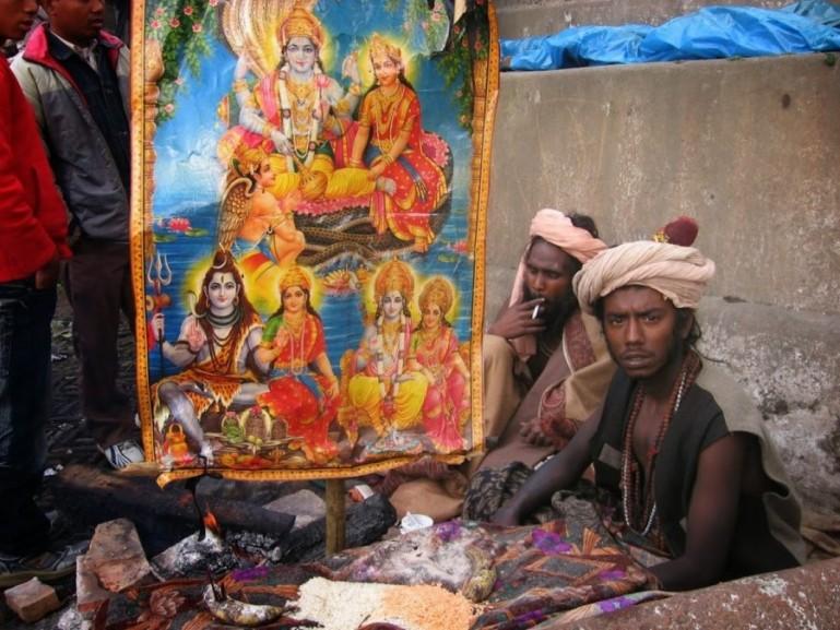 Shivaratri at Pashupatinath temple in Kathmandu Nepal. Another good place to see the Shivaratri festival is in Varanasi