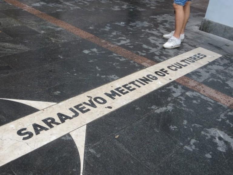 Meeting of cultures in Sarajevo Bosnia