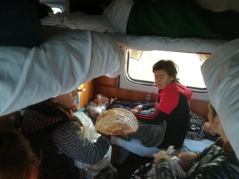 In the sleeper train in Uzbekistan from Tashkent to Nukus