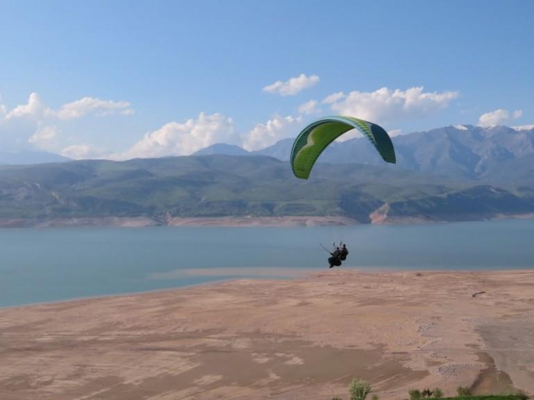 Charvak lake in the Chimgan mountains of Uzbekistan
