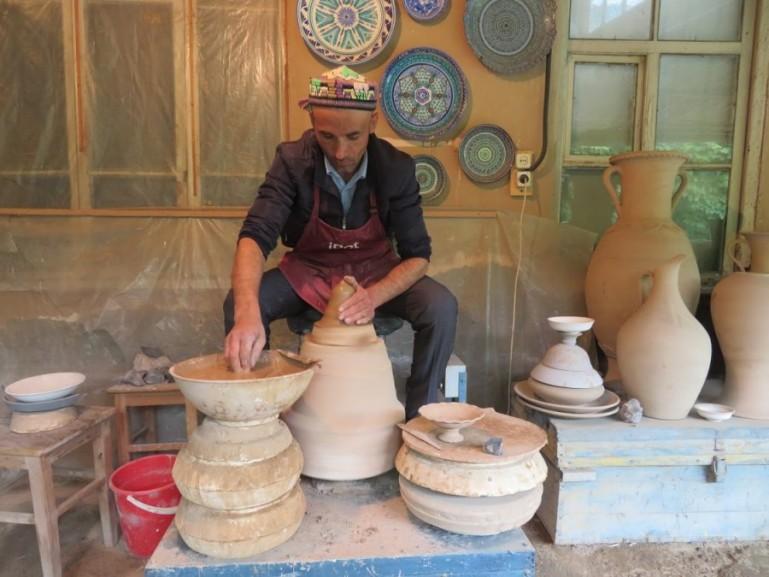 Usmanov ceramic workshop in Rishton Uzbekistan