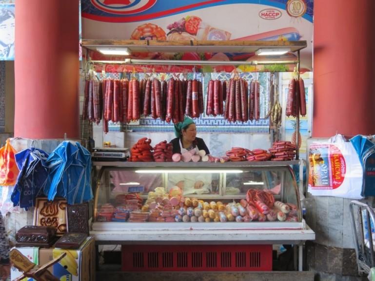 Food in the bazaar in Tajikistan