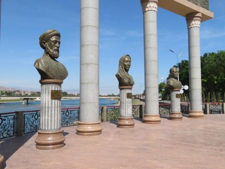 Khoja Khujandi park in Khujand Tajikistan