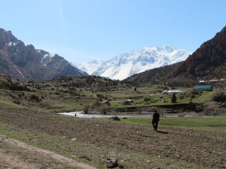 The Fann mountains in Tajikistan